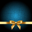 Vector blue background with gold bow