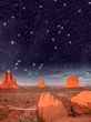 Wonderful night over famous Buttes of Monument Valley, Utah, USA