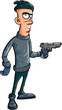 Cartoon villain holding a gun