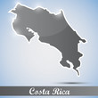 shiny icon in form of Costa Rica