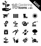 Fototapety Basic - Gardening icons