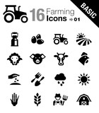 Fototapety Basic - Agriculture and Farming icons