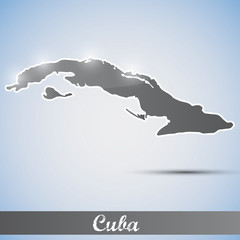 shiny icon in form of Cuba