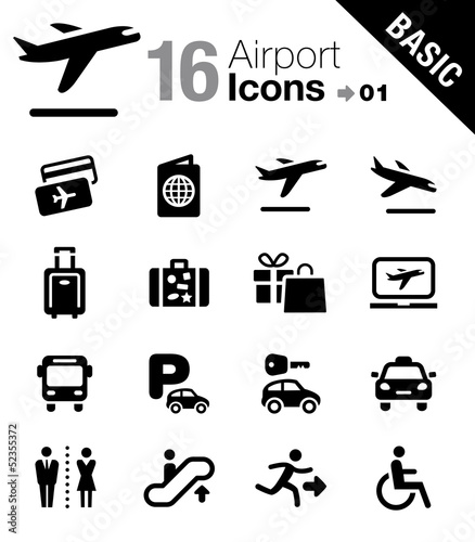 Basic - Airport and Travel icons