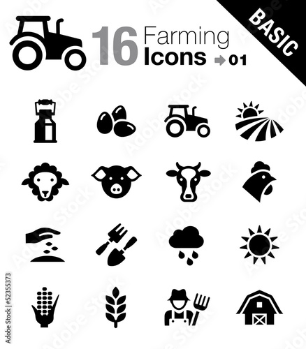 Basic - Agriculture and Farming icons - 52355373