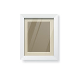 Modern white frame and glass empty, vector