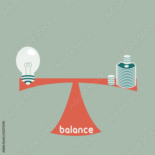 balance between idea and money