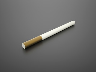 One rendered cigarette