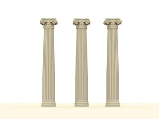Historical architectural concept of columns