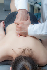 Manual, physio therapy techniques performed by a mal