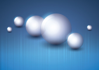 Abstract Background - Glossy Spheres