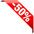 """Banner """"-50%"""" Red"""