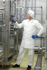 engineer controlling industrial process