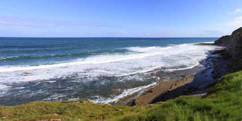 panorama d'une côte sauvage