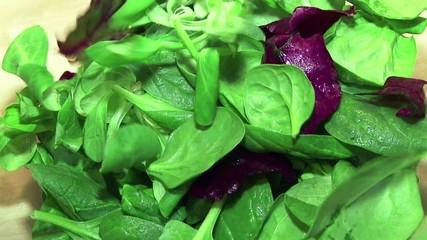 Preparando una ensalada de lechuga