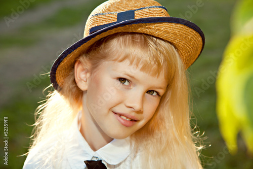 Closeup portrait of girl