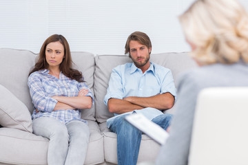 Young couple going through therapy
