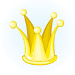 Cartoon golden crown