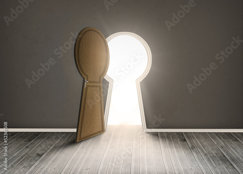 Keyhole shaped doorway