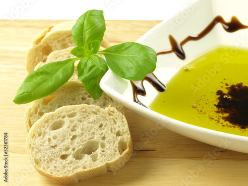 Baguette and oil