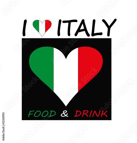 logo per la ristorazione con il tricolore italiano