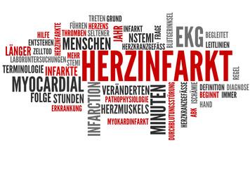 Herzinfarkt (Tagcloud: Herz, Infarkt, Myokardinfarkt)