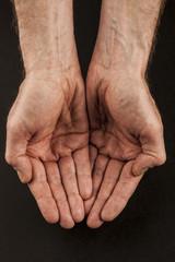Begging hand open