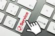 Servicetelefon Tastatur Hand