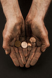 Dirty hands with coins 2