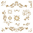 Set of ornamental design elements