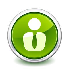 button green business man