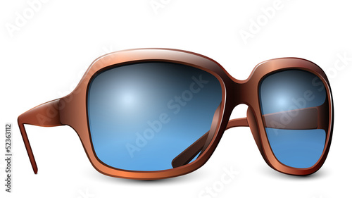 Sunglasses isolated on a white background. Vector illustration