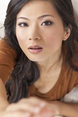 Beautiful Chinese Asian Woman Reaching to Camera