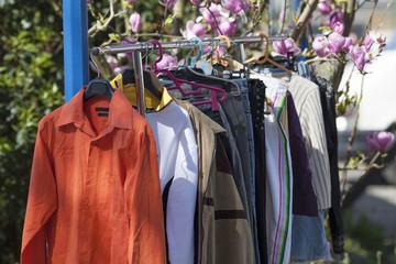 spring clothes garage sale