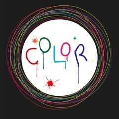 cornice colorata con cerchi e spazio per il testo