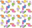 seamless pattern turtles