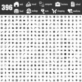 Fototapety 396 black icons set