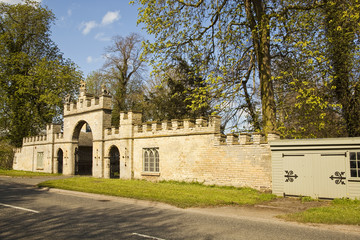 Gateway to Redbourne Hall and  estate.