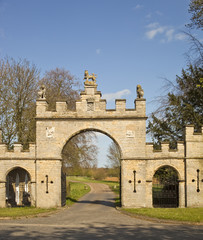 Central entrances to Redbourne Hall Estate.