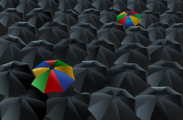 Umbrellas - Rainy Day ( Regenschirme - verregneter Tag )