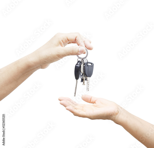 Giving a key car