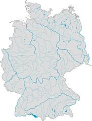 Deutschlandkarte Flüsse und Seen
