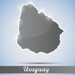 shiny icon in form of Uruguay