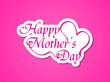 elegant pink color mother's day card design.