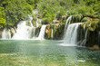canvas print picture - Krka Wasserfälle in Kroatien