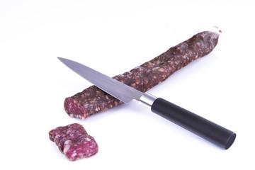 Cut a sapnish sausage