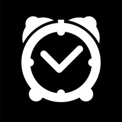 sveglia, tempo icona nero