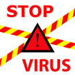 "Warning sign ""Stop Virus"""