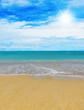 Sunny tropical beach on the island