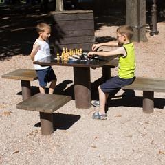 Boys playing chess